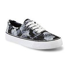 Joe Boxer Women's Sonoma Black/Floral Sneaker