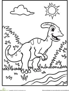 dinosaur math worksheets, free printable dinosaurs math games ... - Dinosaur Coloring Pages Preschool
