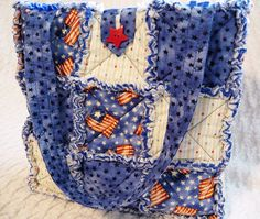 Patriotic Tote, Flags, Stripes, Stars by P and J Crafts, via Flickr