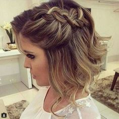 2 Bridal Hair Clip with Rhinestone Twin Flower, Bridal Hair Pins, Swarovski Rhinestone Wedding Hair Pin Set, Bobby Hair Pin - My Hairstyles - Frisuren Trends Prom Hairstyles For Short Hair, Braids For Short Hair, Teenage Hairstyles, Bob Hairstyles, Trendy Hairstyles, Short Haircuts, Beautiful Hairstyles, Everyday Hairstyles, Upstyles For Short Hair