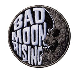 Bad Moon Rising embroidered iron on patch By Kreepsville 666 Size approx in dia Funny Patches, Cool Patches, Pin And Patches, Iron On Patches, Garra, Bag Pins, Tactical Patches, Morale Patch, Moon Rise