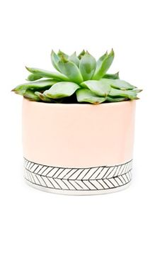 This flower pot is adorable
