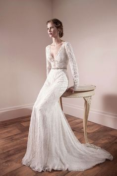 sleeved wedding dress