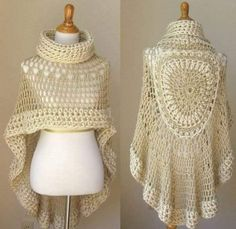 This an extremely beautiful poncho. This awesome pattern it worth the work by is beauty. And with the cold nothing better than a beautiful piece of crochet to warm and to give beautiful charm to our