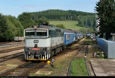 Net Photo: CD 754 022 2 Ceske Drahy CD 754 at Kajov, Czech Republic by Jaroslav Dvorak The Other Side, Czech Republic, Locomotive, Explore, World, Places, Travel, Viajes, Destinations