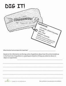 Fossils Worksheets | Dig It! #2 Worksheet