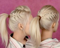 side braids and pony hairstyle