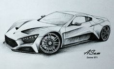 Cool Pencil Drawings Of Cars Images & Pictures - Becuo