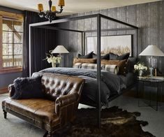Modern Rustic Farmhouse Master Bedroom, Master Bedroom Design, Home Decor Bedroom, Bedroom Ideas, Master Bedrooms, Bedroom Furniture, Bedroom Designs, Small Bedrooms, Bedroom With Couch