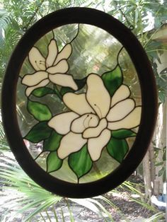 Luanne Kane  stained glass Magnolia
