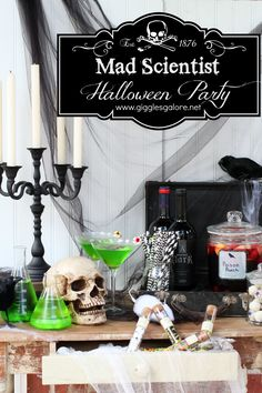 Mad Scientist Halloween Party Ideas                                                                                                                                                                                 More