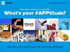 Our first #mendix #growthhack project is live: What's your #APPtitude? Take the quiz: http://www.mendix.com/blog/apptitude/. #appdev #appdevelopment #CIO #IT #PaaS #aPaaS