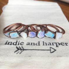LOVE / opal rings by INDIE