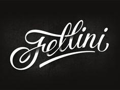 """Cafe Fellini"" in typography, by Tutov Evgeniy ( creativity studio™)"