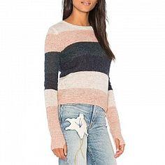 Pam and Gela Multi Stripe Sweater with Thumbholes Envy 15e0a50ed