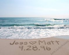 CUSTOM Family Name in the Sand Write your personal message