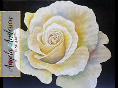 ROSE Painting Tutorial Step by Step LIVE Free Acrylic Fine Art Lesson - YouTube
