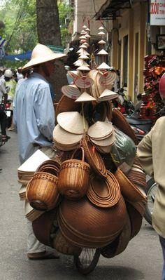 Asia Venta Ambulante Artesanía Camboya Vietnam #elixirbio