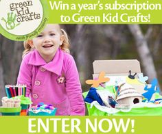 Win a year's subscription to Green Kid Crafts! Green Kid Crafts provides earth-friendly creativity for you and your child. Win a Discovery Box every month. Enter to win from Mother Earth Living!