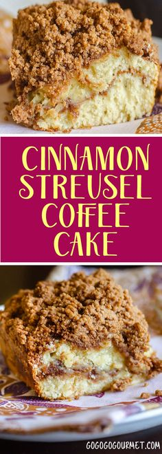 Perfect for Thanksgiving breakfast! This cinnamon coffee cake recipe is so easy, incredibly moist and is topped with the best streusel!