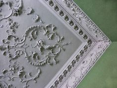 Plasterwork became a feature of focus in 18th century homes and buildings.  The 18th century home often had elaborately decorated ceilings, mouldings, and walls.  I once saw a fireplace in the borders (Scotland and England) that had plasterwork all around it.  Very stunning. ~LMB