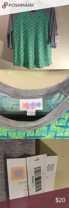 /lularoe/ Randy NWT Lularoe bright graphic design Randy jersey. LuLaRoe Tops Tees - Long Sleeve