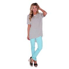 Iconic Skinny Jean in Teal | Impressions #shopimpressions