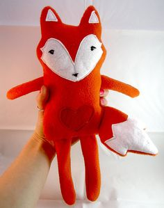 Rag Doll Soft Fox Toy Fabric Plush £14.00