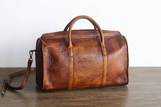 Top Grain Leather Shoulder Bag, Handbag, Vintage Travel Bag PPM2139 – EchoPurse