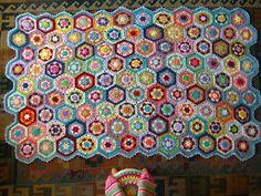 kaleidoscope blanket - beautiful colours