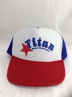 Vintage Titan Metal Detectors Hat Snapback Trucker Cap  #Nissan #Trucker