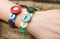 Gifts Kids Can Make - Button Bracelets  - pinned by @PediaStaff – Please Visit  ht.ly/63sNt for all our pediatric therapy pins