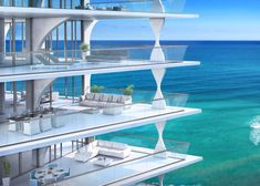 The 198-metre Jade Signature tower by Herzog & de Meuron on an estate in Miami's Sunny Isles district will accommodate 192 residences, ranging from one-bedroom apartments to a 975-square-metre penthouse. Source