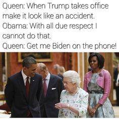 😂😂 Biden no punk bitch Joe And Obama, Obama And Biden, Joe Biden, Funny Quotes, Funny Memes, Hilarious, Jokes, Obama Funny, Funny As Hell