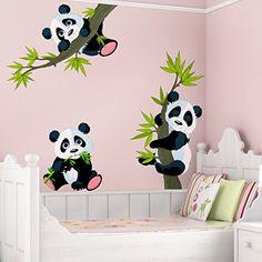 Wall Decal Panda Bear Set Nursery Bear Illustration Wall ... Https://