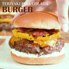 Teriyaki Pina Colada Burger