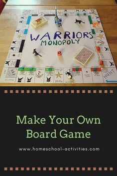 Make your own board game for free with fun ideas showing you how to make different games with your kids. You can use blank versions of Monopoly or build your own from scratch. Board Games For Two, Math Board Games, Board Game Geek, Classroom Games, Kids Board, Game Boards, Math Games, Kids Party Games, Diy Games