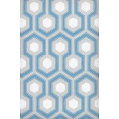 "$ 376.00 - WALLPAPER Cole & Son Hicks Hexagon Blue and Grey Wallpaper Roll dimensions: 20.5""W x 396""L Vertical repeat 4"""