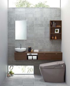 LIXIL | トイレ | サティス | 施工イメージ | Gタイプ Bathroom Toilets, Washroom, Small Bathroom, Toilet Design, Bath Design, Room Layout Design, Small Restaurant Design, Modern Toilet, Small House Design