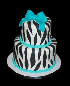 Cute blue zebra cake