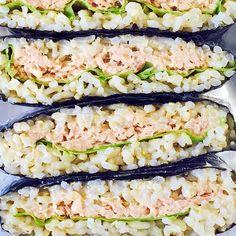 """Tuna and Mayonnaise """"Onigirazu"""" (Rice Sandwich) #OYSHEE #japanese"""