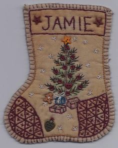 JS12 Jingle Sock Christmas Tree www.chickadeehollowdesigns.com