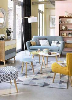 Pastel Living Room, Living Room Decor Colors, Retro Living Rooms, Living Room Paint, Living Room With Fireplace, Small Living Rooms, Living Room Modern, Living Room Interior, Living Room Designs