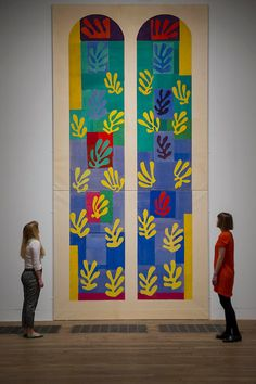 Stained Glass Window Window of the Abside of the Rosary Chapel, Henri Matisse - Musée Nazional d'Art Moderne Centre Georges Pompidou, Paris 515 x 252 cm. Henri Matisse, Matisse Art, Abstract Expressionism, Abstract Art, Matisse Cutouts, Georges Pompidou, The Joy Of Painting, Picasso Paintings, Matisse Paintings