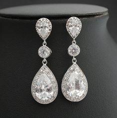 Bridal Jewelry Wedding Jewelry Bridal Earrings by poetryjewelry, $55.00