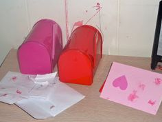 Make a Valentine's Day mailing station for kids. My kids play for many hours with our mailing station while it's out each year!