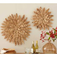I've shared with you the flowers I designed and made from wood slices.  Yesterday I was browsing back through some of my pin boards on Pinte...