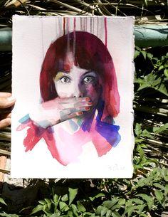 Acuarela . portrait
