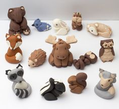 Fondant woodland animals  See policies for by SeasonablyAdorned