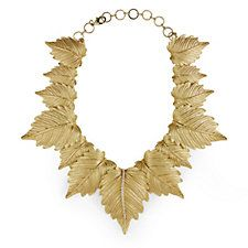 Roberto by RFM Un'Autunno Golden Leaf 38cm Necklace with Extender